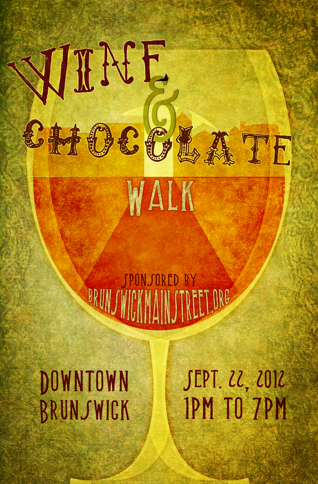 Wine and Chocolate Walk Poster