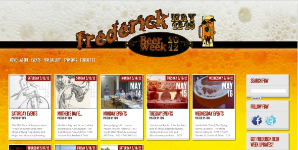 Frederick Beer Week Web Site