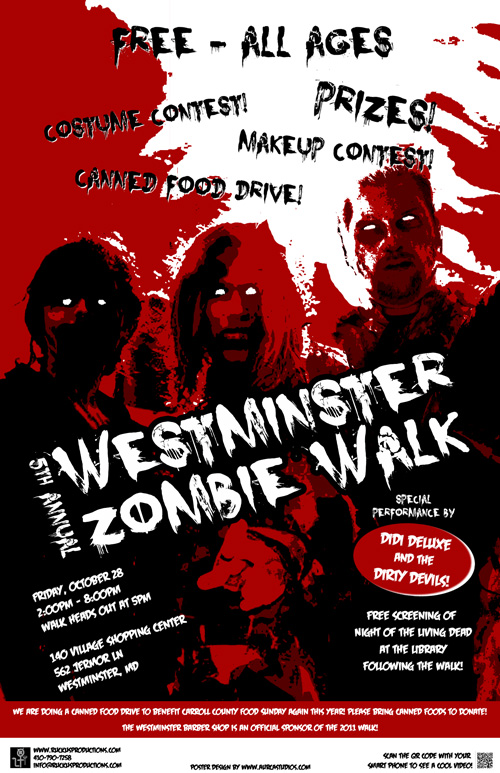 Westminster Zombie Walk Poster